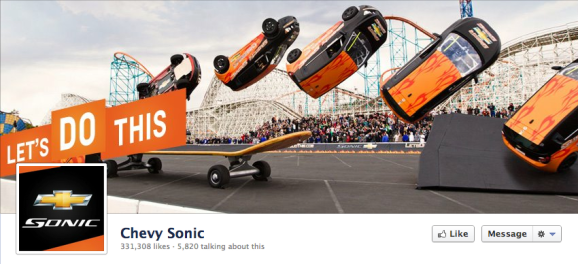 chevy sonic facebook cover photo