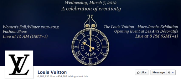 louis vitton facebook cover photo